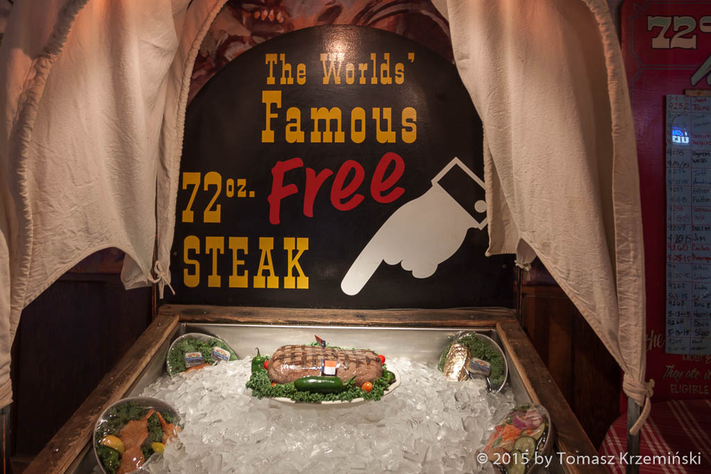 72 oz. Free Steak