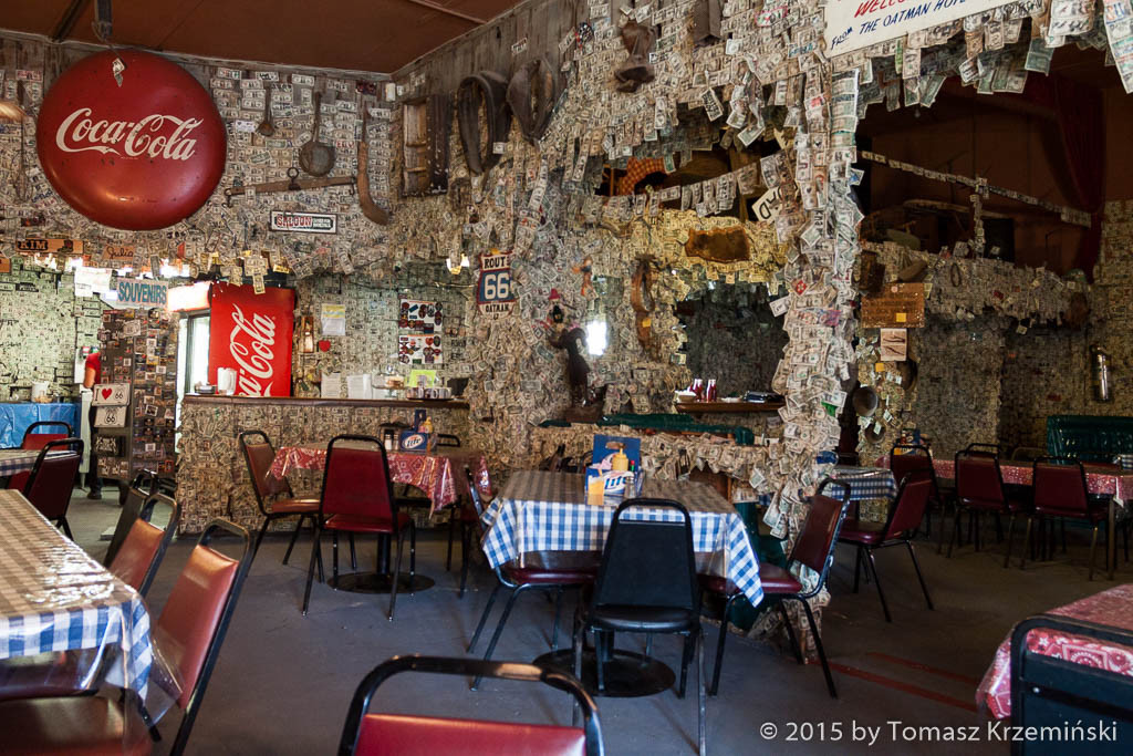 Restaurant and bar, Oatman AZ