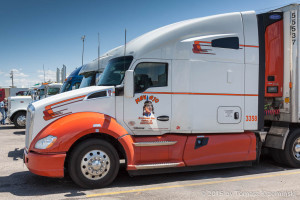 A Kenworth with a Navajo Indian painted on it - is there anything more American?
