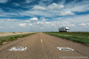...and nothing but the road ahead of us, sky above us and huge trucks in cowboy Texas - do we need anything else to be happy?