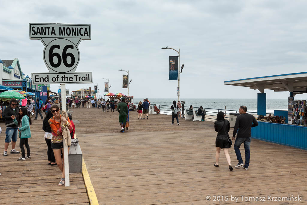 End of the Trail Route 66, Santa Monica Pier CA