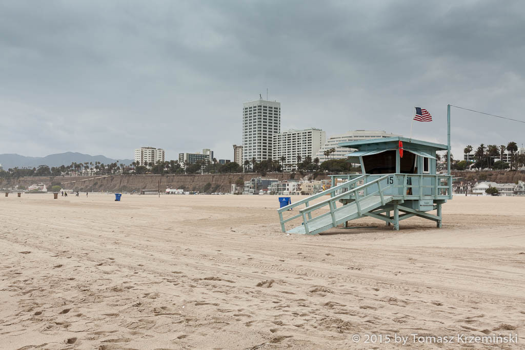 The beach in Santa Monica CA