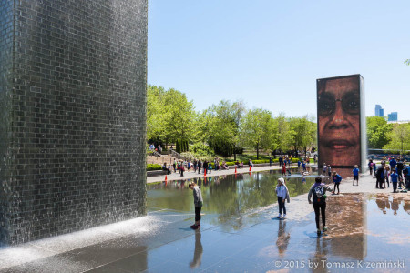 Crown Fountain, Chicago IL